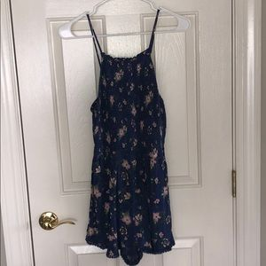 American Eagle Outfitters Other - American Eagle Blue Hawaiian Flower romper